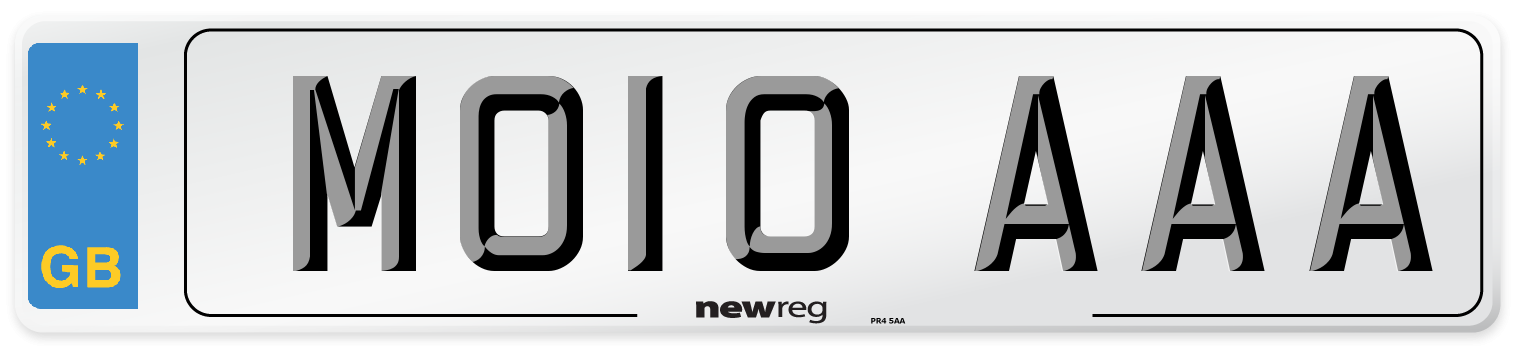 MO10 AAA Number Plate from New Reg